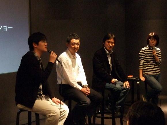左より、弊社松尾、若林孝さん、木下雄一朗さん、西村早苗さん