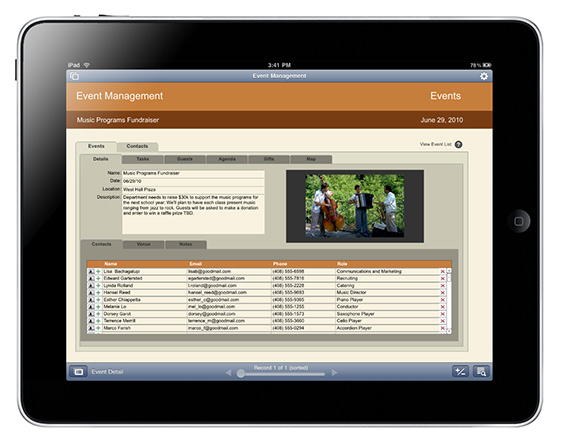 FileMaker Go 11 for iPad